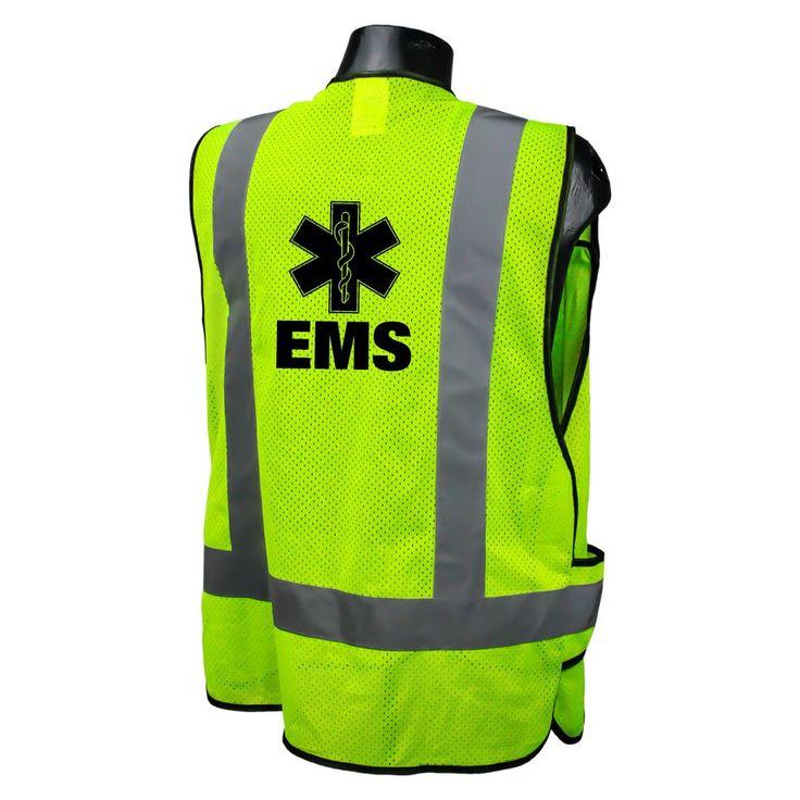 Radians LHV-5-PC-ZR-C Custom EMS Safety Vest ANSI CL2 with Your Logo