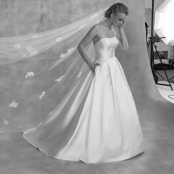 The stunning new gown 'Austen' by Anna Sorrano  This strapless dress is a contemporary take on a classic style