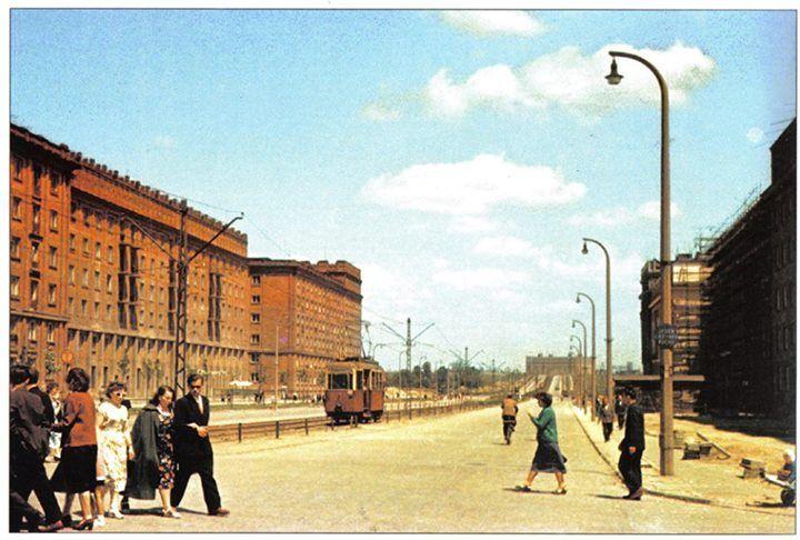 Al. Lenina, rok 1958, obecnie Al. Solidarności