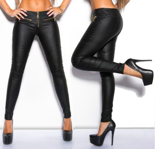 Pantaloni-NERI-di-ecopelle-SUPER-STRETCH-skinny-aderenti-dark-sexy-tg-S-M-L-XL