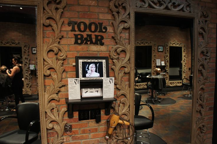 Off to working on making all our customers have BEAUTIFUL hair! #raikastudio #toolbar #hair #salon #nyc #studio #interior #exposed #brick #mirror #vintage #style #lighting