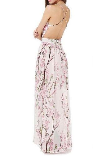 e464fa133b Cherry blossom floral maxi dress in 2019 | oc | Floral maxi dress ...