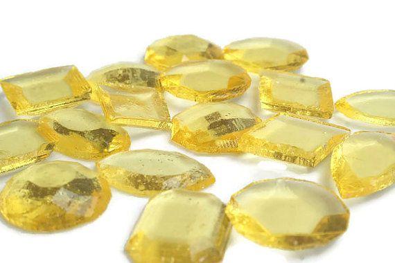 Yellow Edible Jewels - Lemon Yellow Flavor, Amber