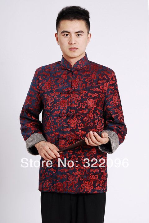 Shanghai Story  Chinese traditional Jacket Red Color tang suit clothes mandarin collar Velveteen fabric chinese marry jacket