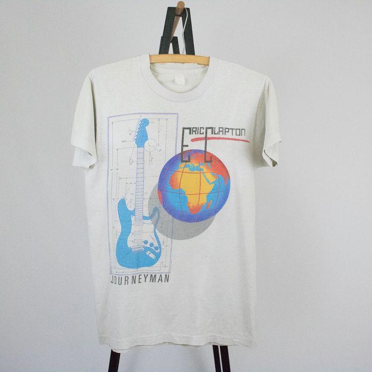 Vintage 90s Eric Clapton Large Tour Concert Tee T-Shirt