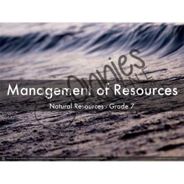 Resource Management | Download on www.onniesonline.co.za