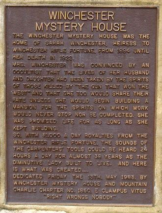 Winchester mystery house - Google Search
