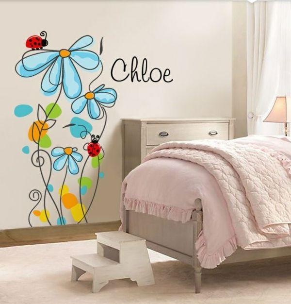 Wandbemalung Kinderzimmer - tolle Interieur ideen