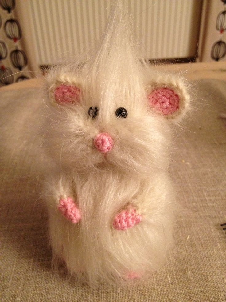 Min söta mus i mohairgarn