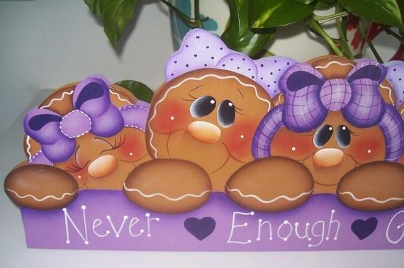 Handpainted Gingerbread Door Crown por stephskeepsakes en Etsy, $26.99