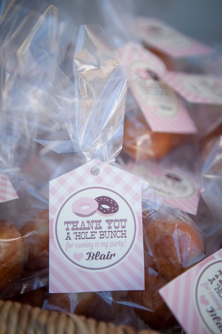 favors for a donut party