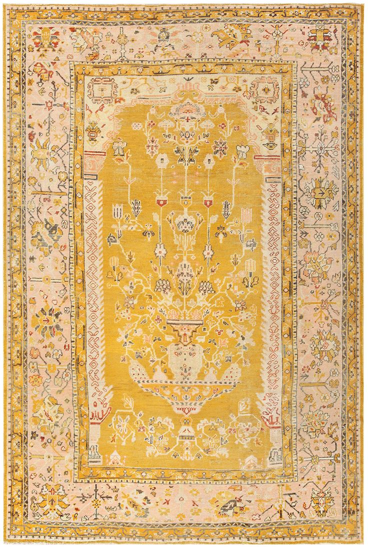 Polonaise antique oriental rugs - Antique Turkish Oushak Carpet 50206
