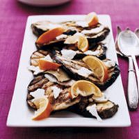 ... Feta, Easy Recipes, Fresh Mint, Grilled Vegetables, Grilled Eggplant