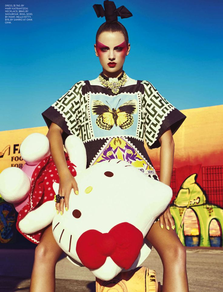 tokyo pop: karina gubanova by gabor jurina for fashion canada april 2013