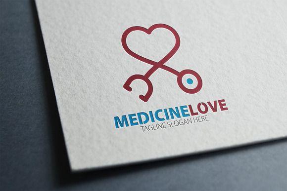 Medicine Love Logo by eSSeGraphic on Creative Market