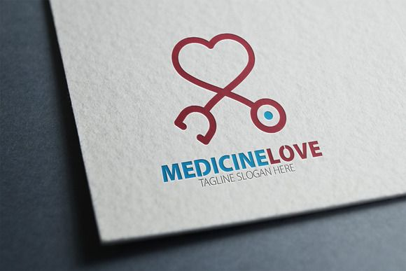 Medicine Love Logo by eSSeGraphic on Creative Market