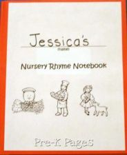 FREE Printable Nursery Rhyme Notebook Cover and Tracking Page for Preschool and Kindergarten