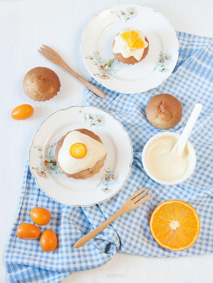 Vegan orange yogurt mini bundt cakes/ muffins