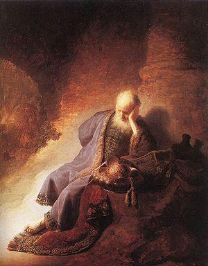 Geremia lamenta la distruzione di Gerusalemme rembrandt
