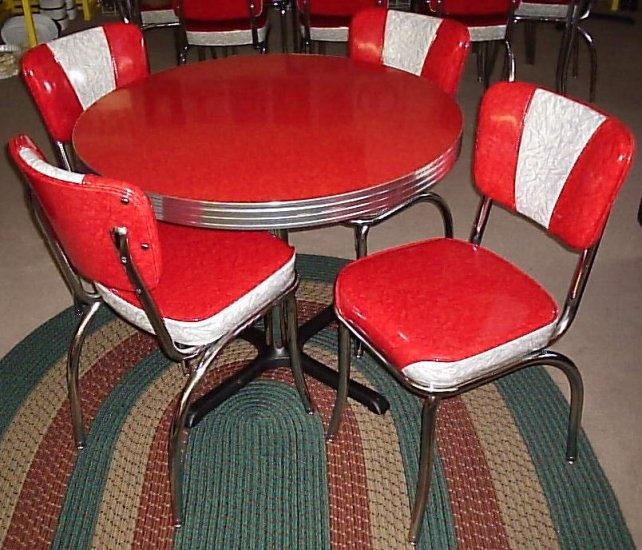 Retro Chrome Dinette Set Chrome Dinettes Pinterest