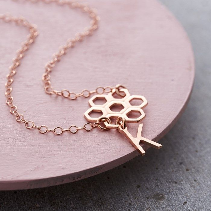 Personalised Posh Totty Designs Honeycomb Necklace | GettingPersonal.co.uk