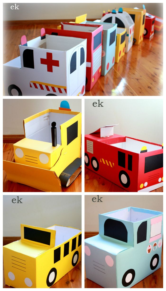 Craft box on wheels - 25 New Things Made With Diy Cardboard Box Anyone Can Make