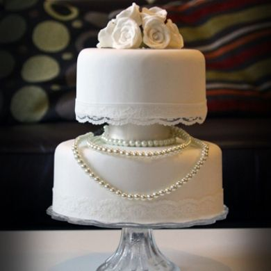 wedding cakes lace and pearl vintage pearl and lace wedding cake 390x390 jpg 390 24864