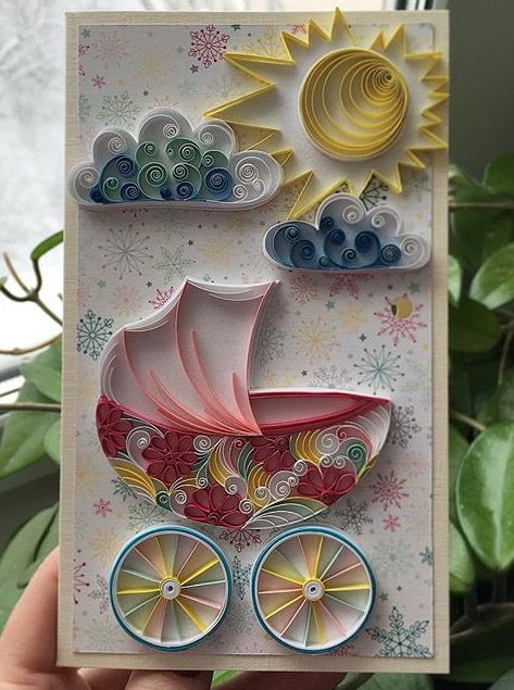 Baby card quilling