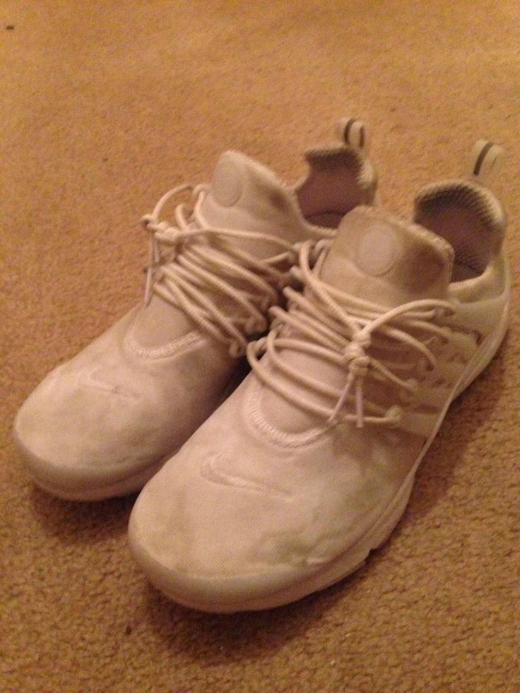 As you all can see these white prestos are looking really dirty I clean them daily but they can't beat the power of dickhead highschoolers. That's why I want to GIVE THEM A BLACK OUT. I've never done this before so I need help with knowing what the procedure is and what supplies are needed.