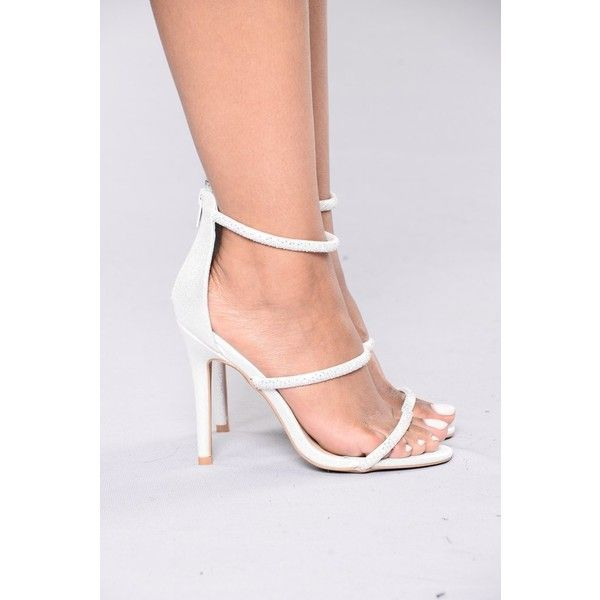Diamond In The Sky Heels Silver ($17) ❤ liked on Polyvore featuring shoes, pumps, silver high heel shoes, high heel shoes, silver strap shoes, black and silver shoes and strappy pumps