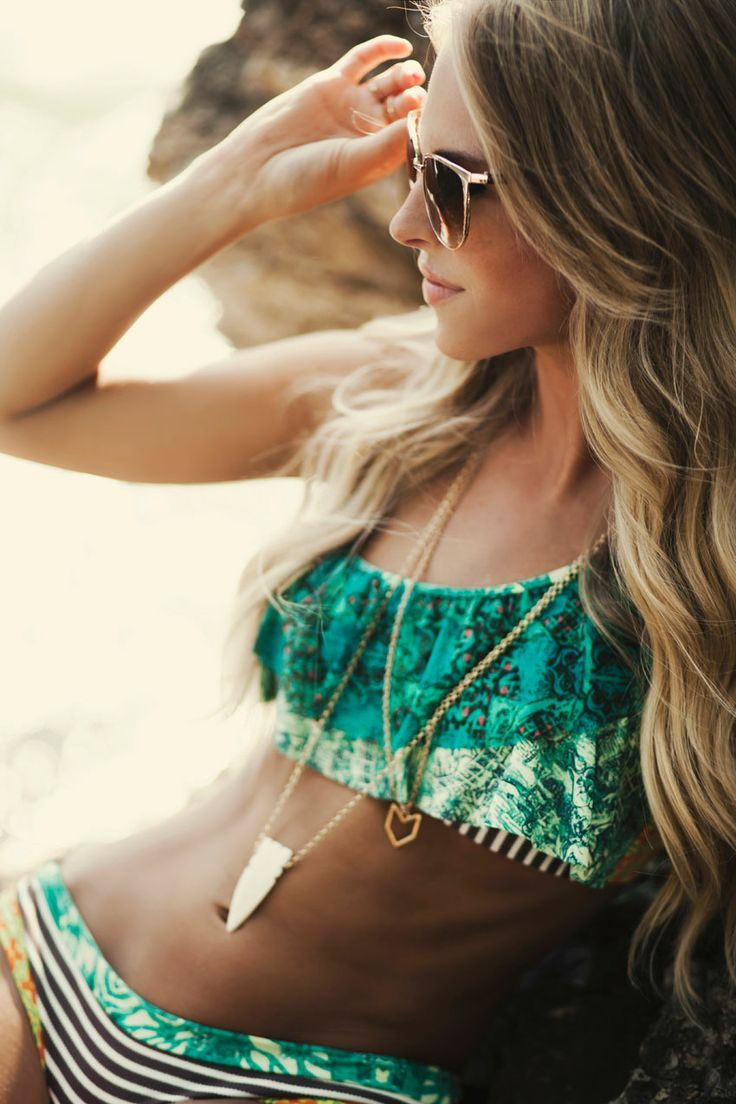 LOVE the swimsuit, hair and accessories! http://southernswim.com/pages/maaji-swimwear-lookbook | DIY for Home & Fashion