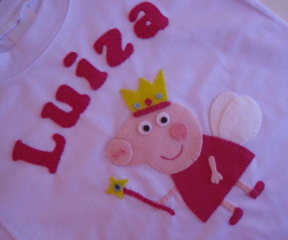 Camiseta Peppa Pig | Bunica Chica | Elo7