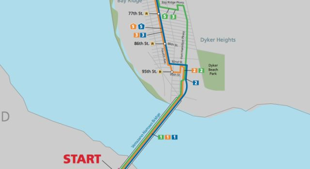NY Marathon Course in Brooklyn: Check out These 5 Neighborhood Maps: NY Marathon Map: From Staten Is. to Bay Ridge, Brooklyn
