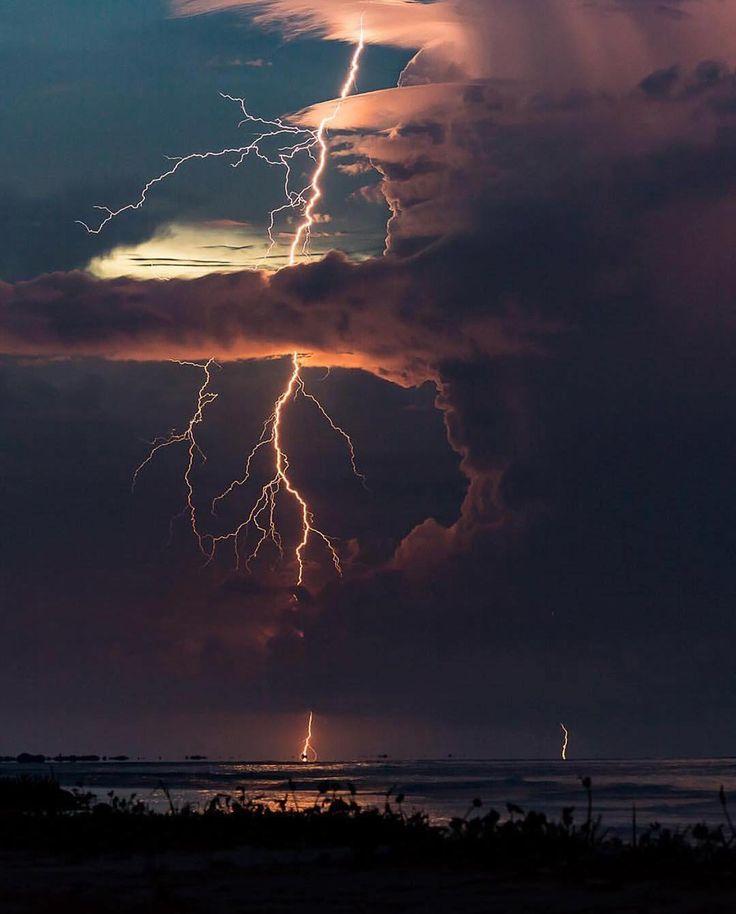 "332.4k Likes, 1,268 Comments - Earthpix  (@earthpix) on Instagram: ""Beachside lighting storm ⛈ PC: @jonaspiontek"""