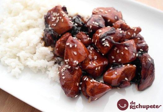 Pollo teriyaki  http://recetasderechupete.hola.com/como-preparar-pollo-teriyaki-de-manera-facil-y-rapida/9848/