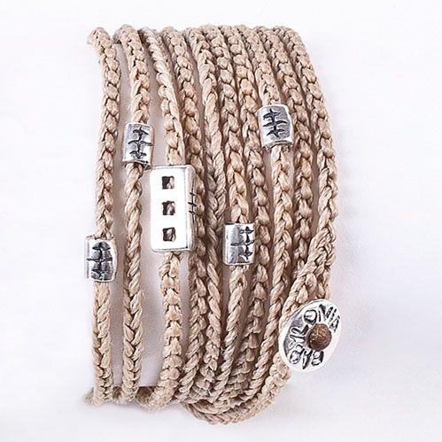 Babylonia Beige wrap from greek islands jewelry babylonia silver jewelry www.mybabylonia.com