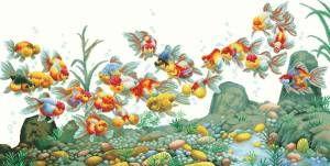 Красочные рыбы - Морская тема - Схемы вышивки - Иголка