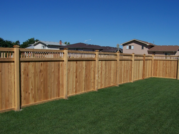 162 best cedar fence images on pinterest garden fences for Decorative fences for backyards