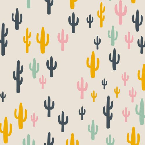 Cacti Field Fun by Leah Duncan for Art Gallery Fabrics - 1/2 Yard - Cotton - Morning Walk Pink Cactus Seafoam Green Caci Succulents by Owlanddrum on Etsy