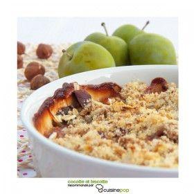 Crumble prunes et noisettes