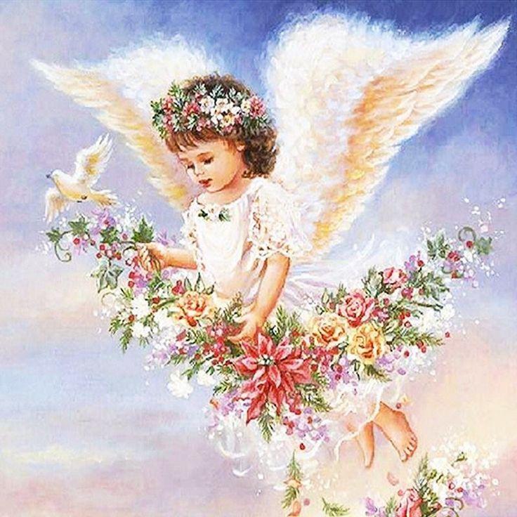 Ангел открытка с днем рождения