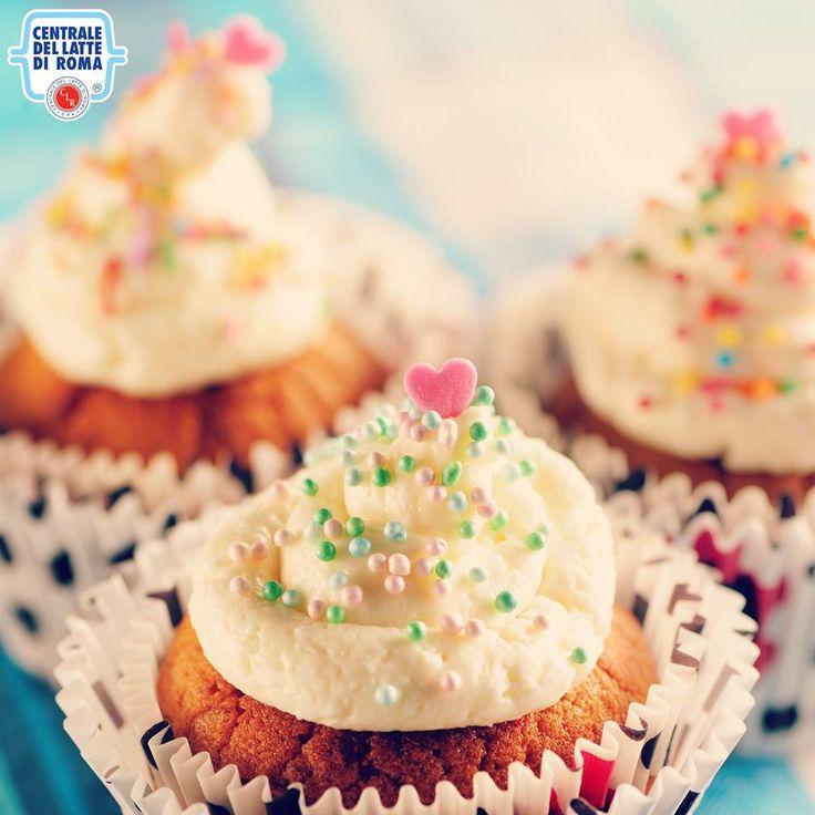 #Cupcake con decorazioni nei colori pastello