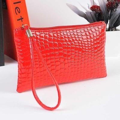 Vogue Women Crocodile Leather Clutch Handbag Zipper Bag Coin Purse Red  | Clothing, Shoes & Accessories, Women's Handbags & Bags, Handbags & Purses | eBay!