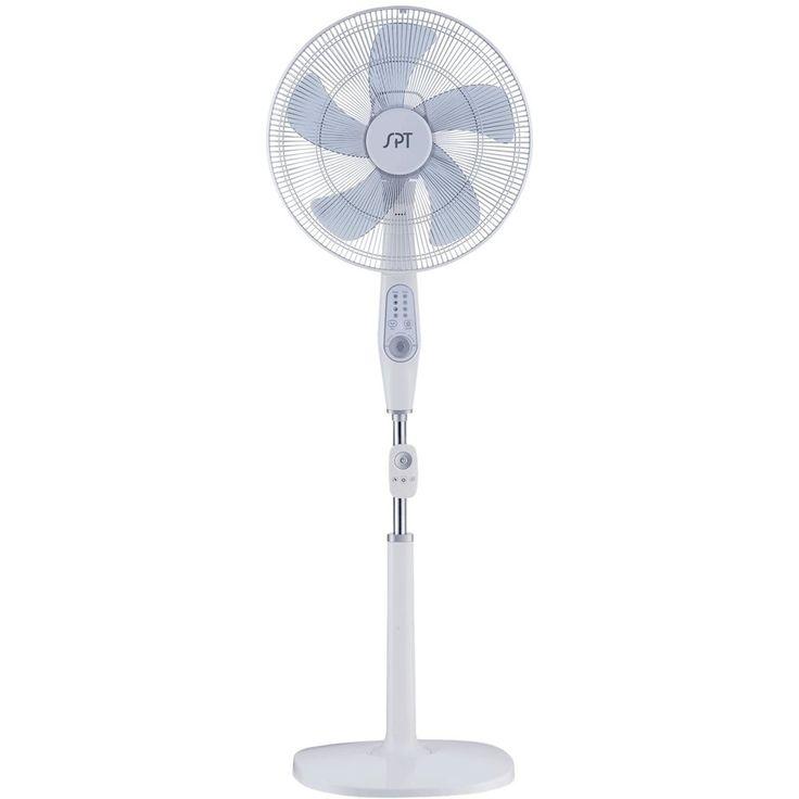 "SPT - 16"" Pedestal Fan - White"