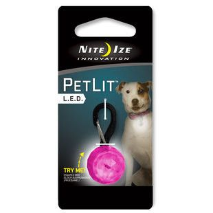NiteIze PetLit LED Collar Light - Pink