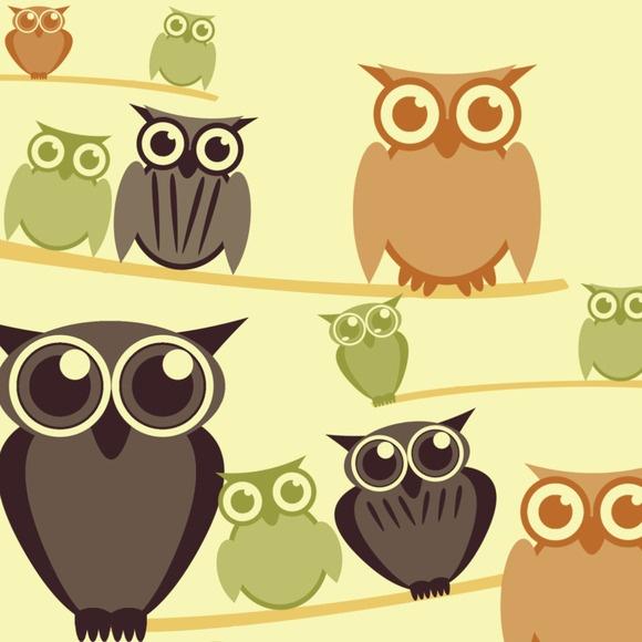 Retro Owls Photoshop Brushes 2