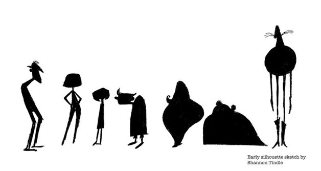 Silhouette Designs For Characters From Coraline Character Design Tips Character Design Coraline Characters