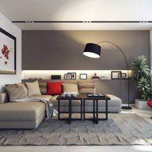 Современные угловые диваны в интерьере гостиной комнаты-9