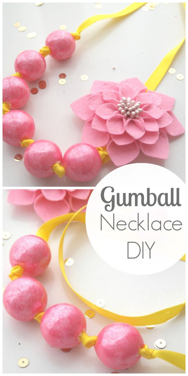 DIY Edible Gumball Necklaces For Your Princess Party Favors