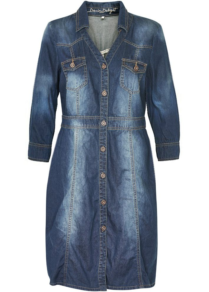 Cream Denimkjole 10601249 Carrie Denim Dress night blue denim – Acorns